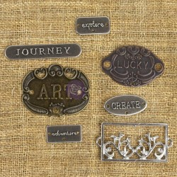 Mechanicals Metal Embellishments - Plate & Label_76037