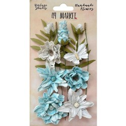 Vintage Shades Cluster Flowers - Blue_76041