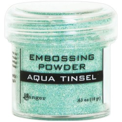 Embossing Powder - aqua tinsel_76050