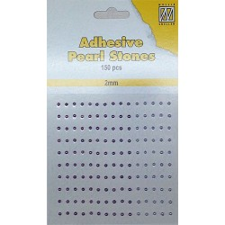 bronze gold - Adhesive Pearls_76331