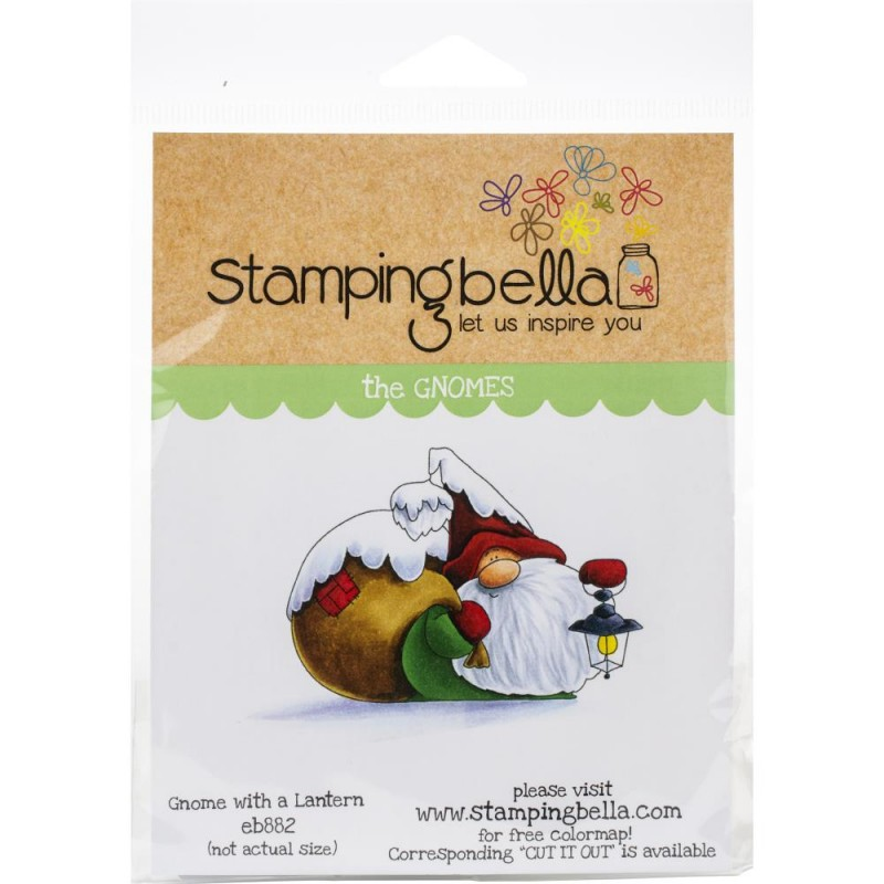 Gnome with a Lantern - Cling Stamp_76430