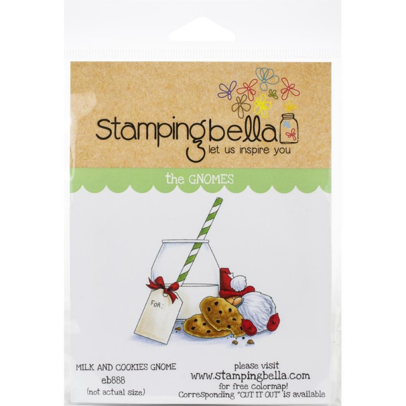 Milk & Cookies Gnome - Cling Stamp_76437