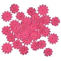 Paper Flowers - Fuchsia with Pearl_77368