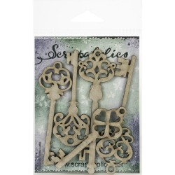 Laser Cut Chipboard - Skeleton Keys_77661