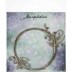 Laser Cut Chipboard - Vine Flourish Frame_77668