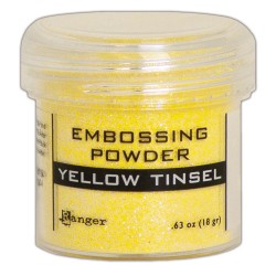 Embossing Powder - yellow tinsel_77701