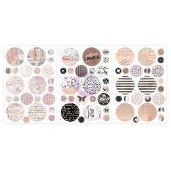 Amelia Rose – Circle Stickers with foil_78046