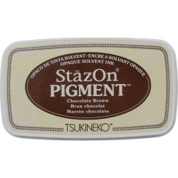 StazOn Pigment Ink Pad - Chocolate brown_78231
