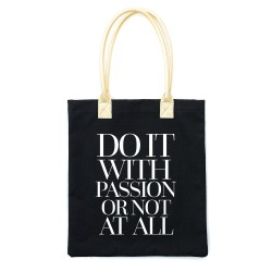 Do it with Passion Tote Bag - Black_78307