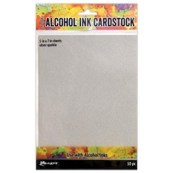 alcohol ink cardstock silver sparkle_78386