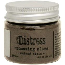 Distress Embossing Glaze - Walnut Stain_78461