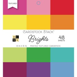 """Paper Stack – Brights 6""""x6"""""""
