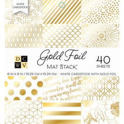 Paper Stack – White Gold Foil