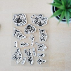 Fall Flowers - Clear Stamp