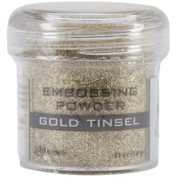 Embossing Powder - gold tinsel