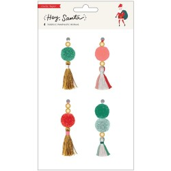 Hey, Santa Beaded Tassels