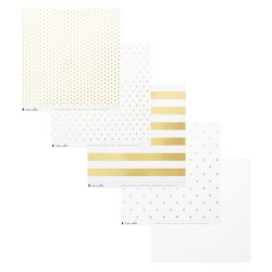Clear With gold - Acetate