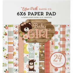Baby Girl Paper Pad 6x6