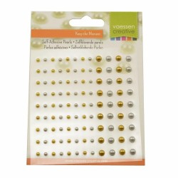 silver & gold - Adhesive Pearls