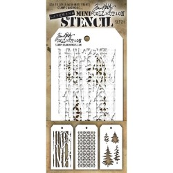 Mini Layered Stencil Set 3/Pkg - Set 21