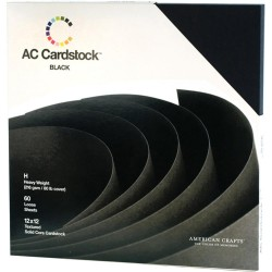Black Cardstock Pack