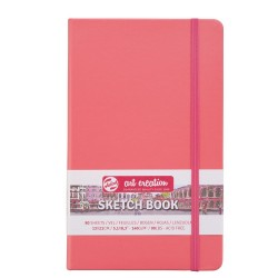 Sketch Note Book 13x21cm - Coral Red