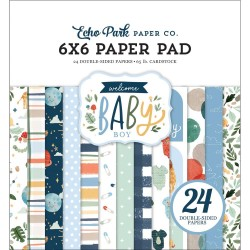 Welcome Baby Boy Paper Pad 6x6