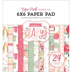 Welcome Baby Girl Paper Pad 6x6