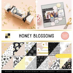 Honey Blossoms with Gold Foil