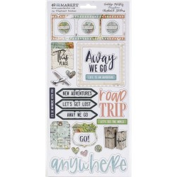 Vintage Artistry Anywhere – Adhesive Chipboard