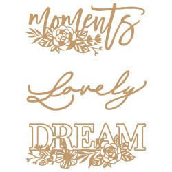 Laser Cut Chipboard - Words To Live By 2