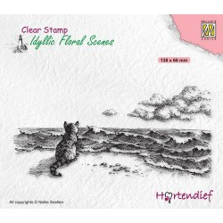 Clear Stamp - cat at the sea