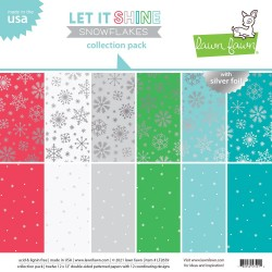 Let It Shine Snowflakes with Silver Foil - Collection Pack