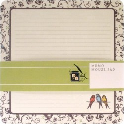 Memo Mouse Pad - Black & Cream